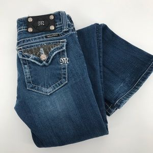 Miss Me Embelished Boot Cut Jeans JP5023-1 Sz 27